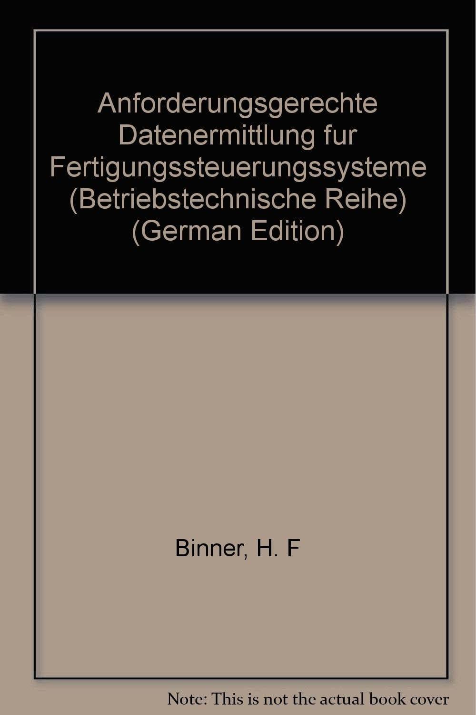 Buch Anforderungsgerechte Datenermittlung für die Fertigungssteuerungssysteme